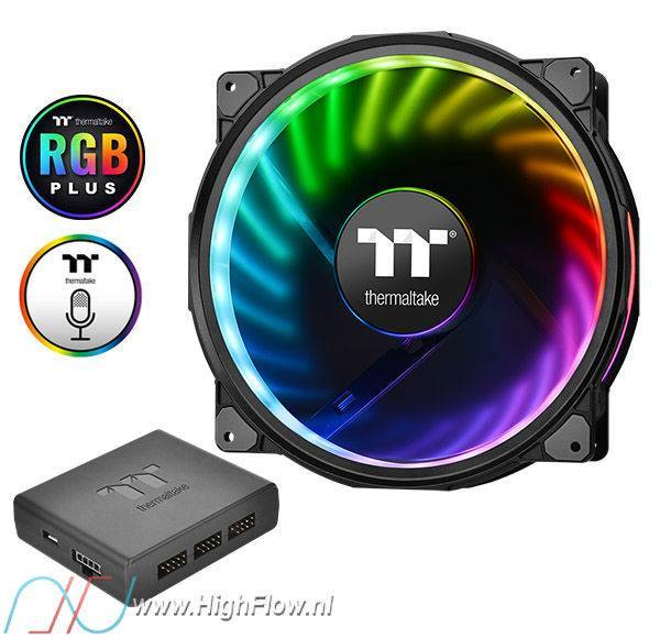 Thermaltake Riing Plus 20 RGB (200mm) Case Fan TT Premium Edition (Single  Fan Pack with Controller)