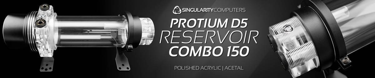 Singularity Computers Protium D5 Reservoir Combo 150mm