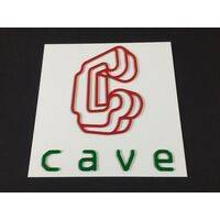 Wall / Door Sign - Cave - 30x30cm