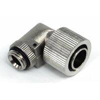 16/13mm screw-on fitting 90° revolvable G1/4 - compact - silver nickel