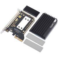 kryoM.2 evo PCIe 3.0 x4 adapter for M.2 NGFF PCIe SSD, M-Key with passive heatsink