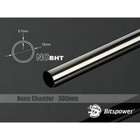 Bitspower None Chamfer Brass Hard Tubing OD12MM Black Sparkle - Length 300 MM - BP-NCBHT12BS-L300