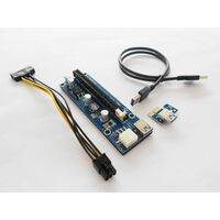 PCI-E 1x to 16x powered Riser Card Mining / Rendering Kit Pro - SATA/USB3.0 - 60cm