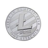 Litecoin Silver Plated LTC Coin - Collectible