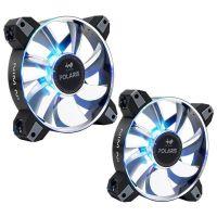 In Win Polaris Aluminium RGB LED PWM Fan - 120mm - 500-1280RPM - Twin Pack