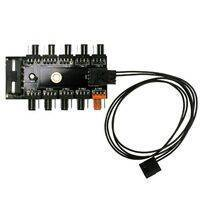 4-Pin PWM Splitter / Hub 10-Way Channel (1x PWM -> 10x PWM) Molex/SATA powered