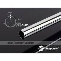 Bitspower None Chamfer Brass Hard Tubing OD16MM Black Sparkle - Length 300 MM - BP-NCBHT16BS-L300