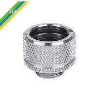 """Thermaltake Pacific G1/4 PETG Tube 5/8"""" (16mm) OD Adapter - Chrome"""