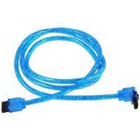 SATA Kabel 50cm - UV blue 1x 90 graden hoek
