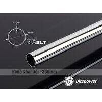 Bitspower None Chamfer Brass Link Tubing OD14MM Shining Silver - Length 300 MM