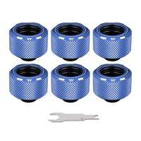 Thermaltake Pacific C-PRO G1/4 PETG Tube 16mm OD Compression - Blue (6-Pack Fittings)