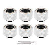 Thermaltake Pacific C-PRO G1/4 PETG Tube 16mm OD Compression - White (6-Pack Fittings) CL-W211-CU00WT-B