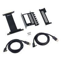 CableMod Vertical PCI-e Bracket - 2 x DisplayPort - BLACK