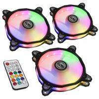 Lian Li BR120 RGB PWM Fans 3 Fan Pack + Controller, black - 120mm