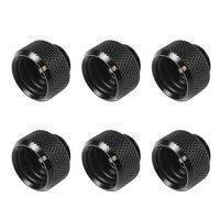 Barrow G1/4 -14mm OD Twin Seal Hard Tube Push Fitting - Black (6 Pack)