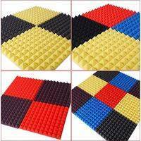 Arrowzoom Acoustic Panels Sound Absorption Studio Soundproof Foam - Pyramid Tiles - 50 x 50 x 5 cm