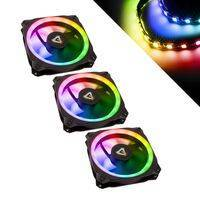 Antec Prizm 120mm Addressable RGB Case Fans, Controller and LED Strips - Triple Pack