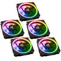 Antec Prizm 120mm Addressable RGB Case Fans, Controller and LED Strips - Five Pack