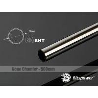 Bitspower None Chamfer Brass Hard Tubing OD16MM Black Sparkle - Length 500 MM - BP-NCBHT16BS-L500