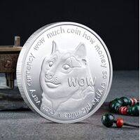 Doge Gold or Silver Plated ETH Coin - Collectible (Silver)