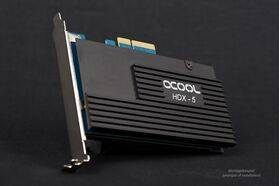 Alphacool Eisblock HDX-5 NGFF+SATAIII PCIe Card with passive cooling block - black
