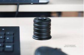 Alphacool Powerbutton Taster - Deep Black Example