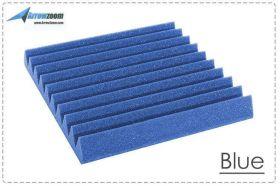 Arrowzoom Acoustic Panels Sound Absorption Studio Soundproof Foam - Wedge Tiles - 25 x 25 x 5 cm - Blue