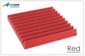 Arrowzoom Acoustic Panels Sound Absorption Studio Soundproof Foam - Wedge Tiles - 50 x 50 x 5 cm - Red