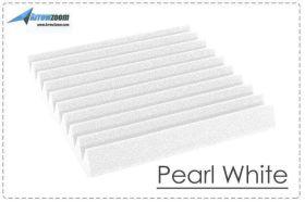 Arrowzoom Acoustic Panels Sound Absorption Studio Soundproof Foam - Wedge Tiles - 50 x 50 x 5 cm - White
