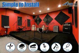 Arrowzoom Acoustic Panels Sound Absorption Studio Soundproof Foam - Bass Trap Cube Block - 12 X 12 X 24 cm