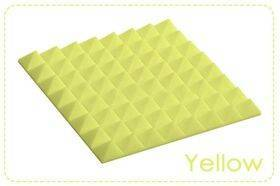 Arrowzoom Acoustic Panels Sound Absorption Studio Soundproof Foam - Pyramid Tiles - 50 x 50 x 5 cm Yellow