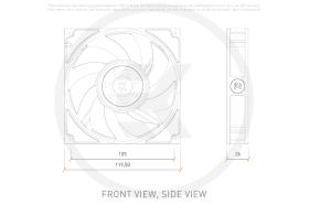 EK-Vardar X3M 120ER (500-2200 rpm) PWM Fan - White