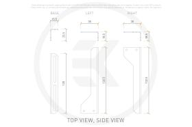 EK-Loop Angled Bracket - 120mm