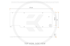 EK-Quantum Vector EVGA XC3 RTX 3080/3090 Backplate Nickel