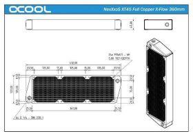 Alphacool NexXxoS XT45 Full Copper X-Flow 360mm radiator - 14235