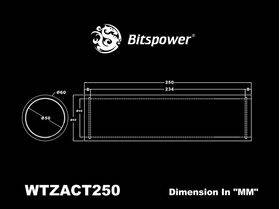 Bitspower Z-Tube 250 - BP-WTZACT250-CL