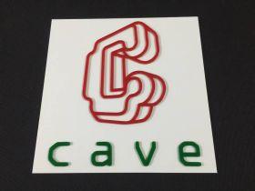 Wall / Door Sign - Cave - 30x30cm