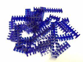 Cable Comb - Mega Pack! - 35pcs - Blue Transparent