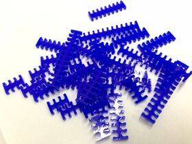 Cable Comb - Mega Pack! - 35pcs - Blue Opaque