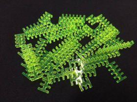 Cable Comb - Mega Pack! - 35pcs - Green Transparent