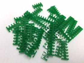 Cable Comb - Mega Pack! - 35pcs - Green Opaque