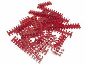 Cable Comb - Mega Pack! - 35pcs - Red Transparent