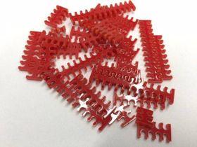 Cable Comb - Mega Pack! - 35pcs - Red Opaque