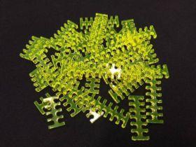 Cable Comb - Mega Pack! - 35pcs - Yellow Transparent