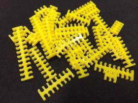 Cable Comb - Mega Pack! - 35pcs - Yellow Opaque