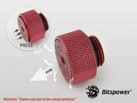 Bitspower G1/4 Deep Blood Red AIR-Exhaust Fitting - BP-DBRETAIR