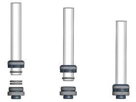 "XSPC G1/4"" to 14/10mm PETG/Acrylic/Hard Tube Triple Seal Fitting - CHROME"