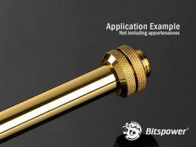 Bitspower None Chamfer Brass Hard Tubing OD12MM Golden - Length 300 MM -