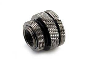 Requires a panel hole size of 16.5mm  Material: Brass Finish:  Black Chrome G1/4″ Thread