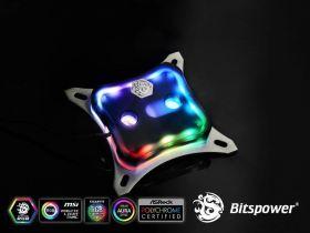 Bitspower CPU Block Summit M Acrylic Black - Digital RGB